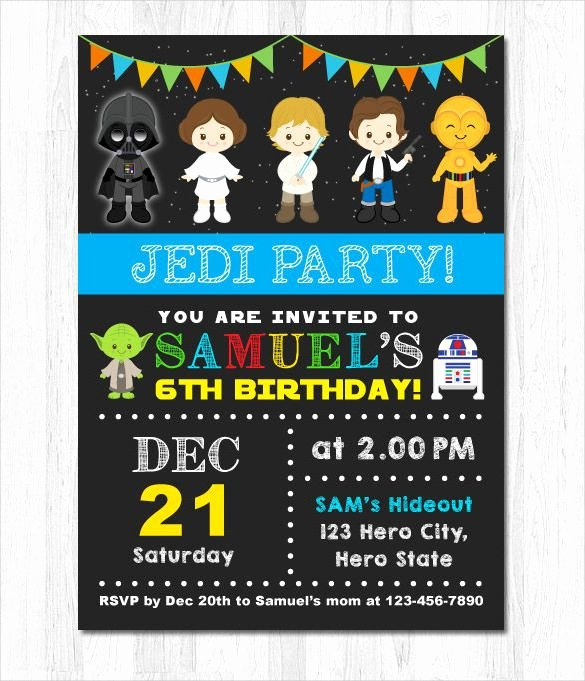 Star Wars Birthday Invitations Printable