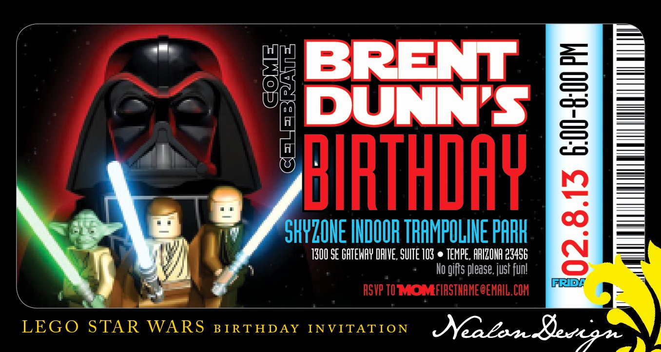 Star Wars Birthday Invitations Template