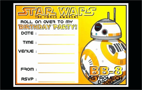 Star Wars Invitation Card Template Wedding Invitations and