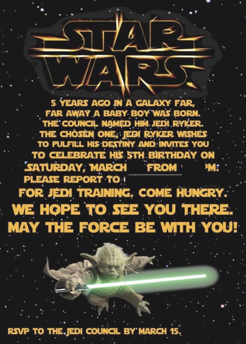 Star Wars Invitation Template Free – orderecigsjuicefo