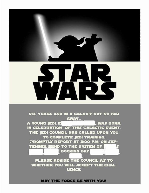 Star Wars Invitations Template Google Search