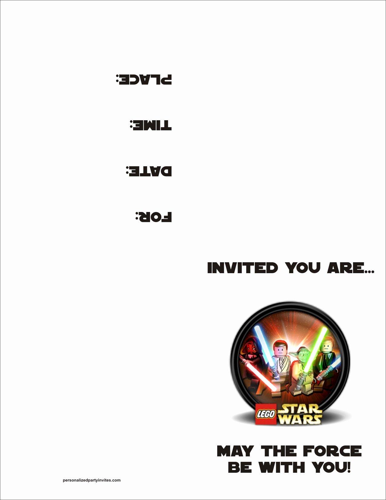 Star Wars Invitations Template
