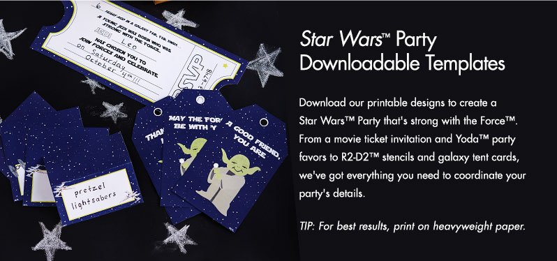 Star Wars™ Party Downloadable Template