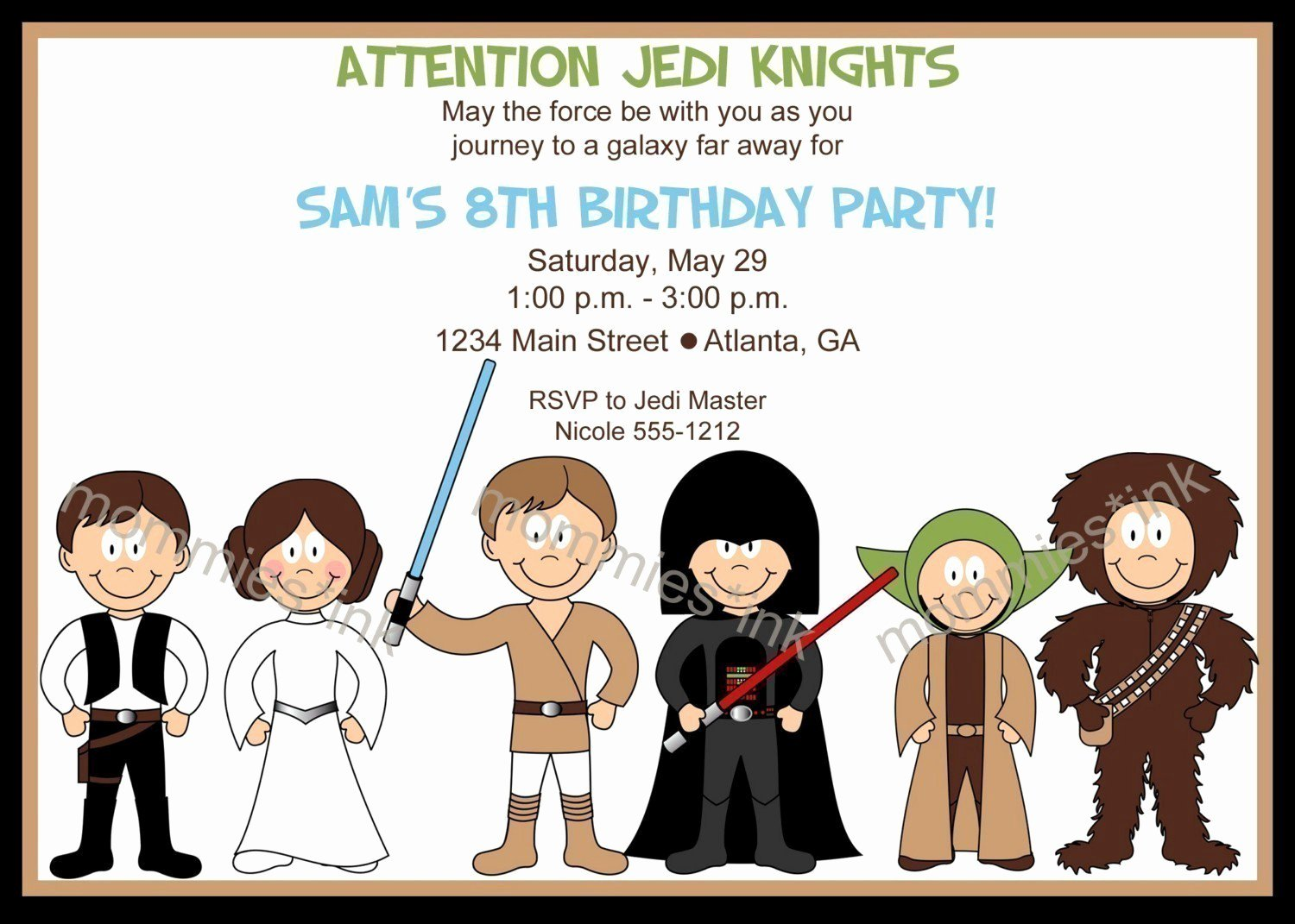 Star Wars Printable Party Invitations