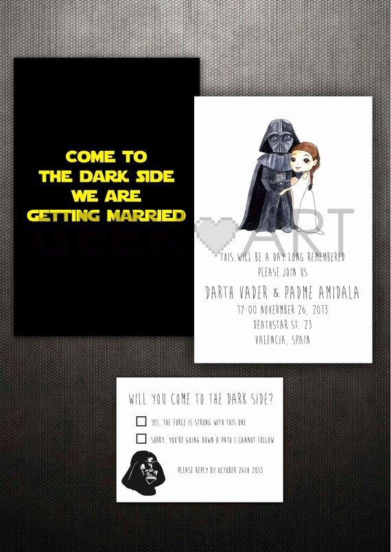 Star Wars Wedding Invitations Star Wars Wedding