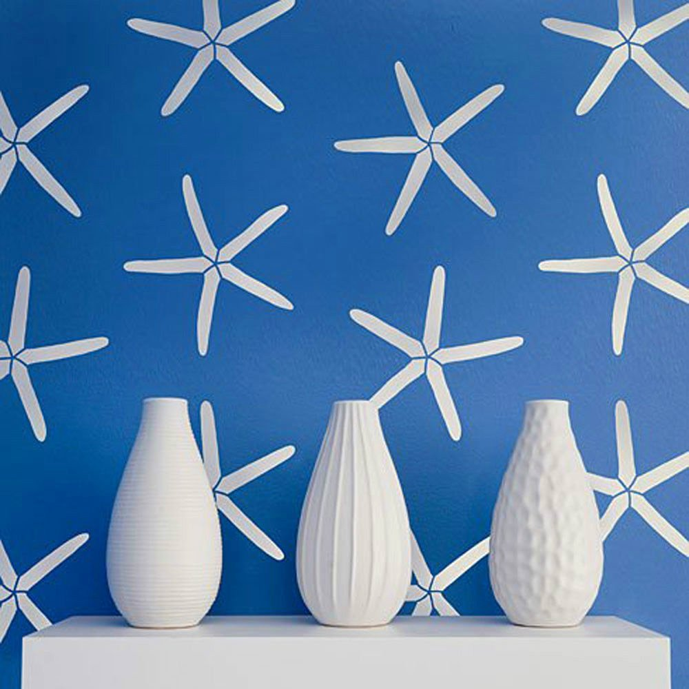 Starfish Allover Stencil Nautical Wall Stencils Diy