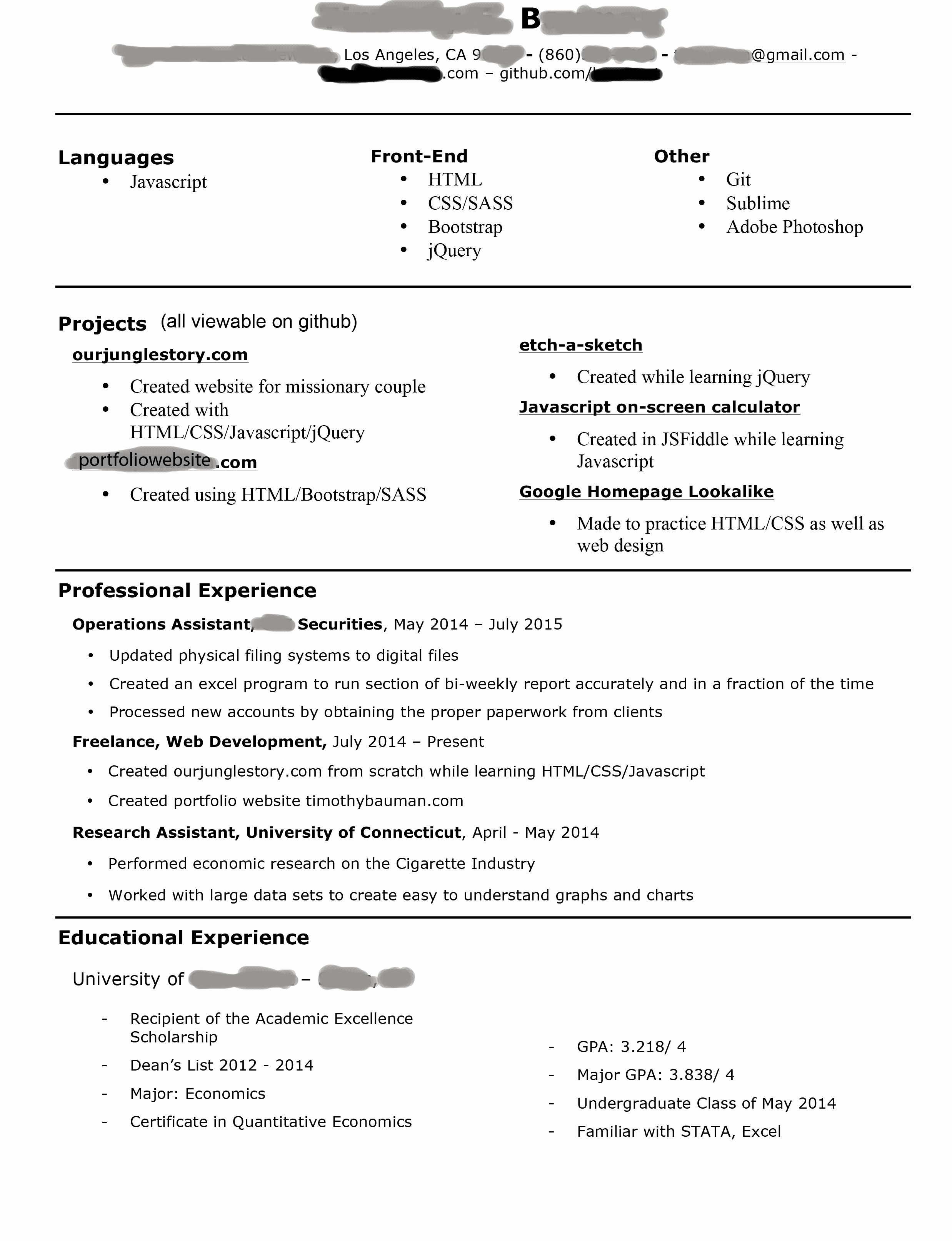 Starting to Look for Jobs as A Jr Front End Web Developer