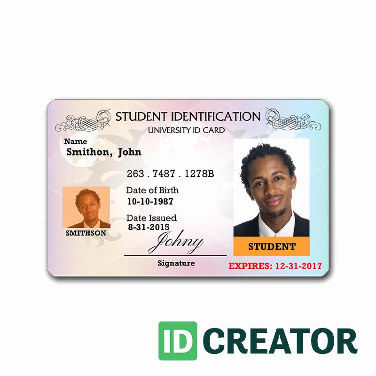 State Identification Card Templates