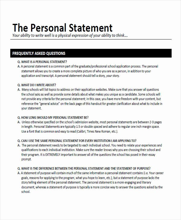 Statement Qualifications Example Fiveoutsiders