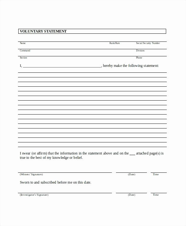 Statement Template Free Word Documents Download Capability