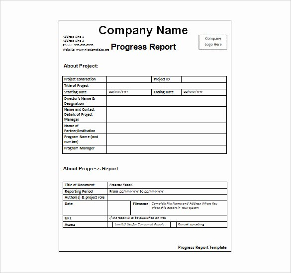 Status Report Template 27 Examples You Can Download Free