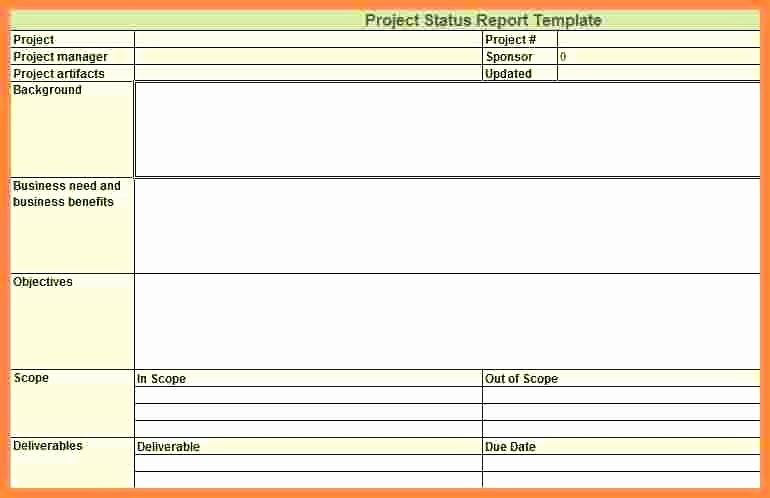 Status Report Template Excel Quality Control Weekly Status