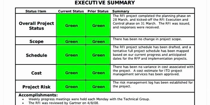 Status Report Template Executive Progress – Azserverfo