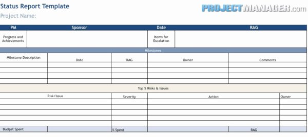 Status Report Template Projectmanager