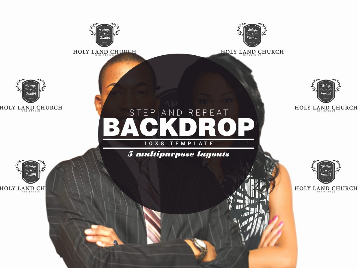 Step and Repeat Backdrop Template Templates On Creative