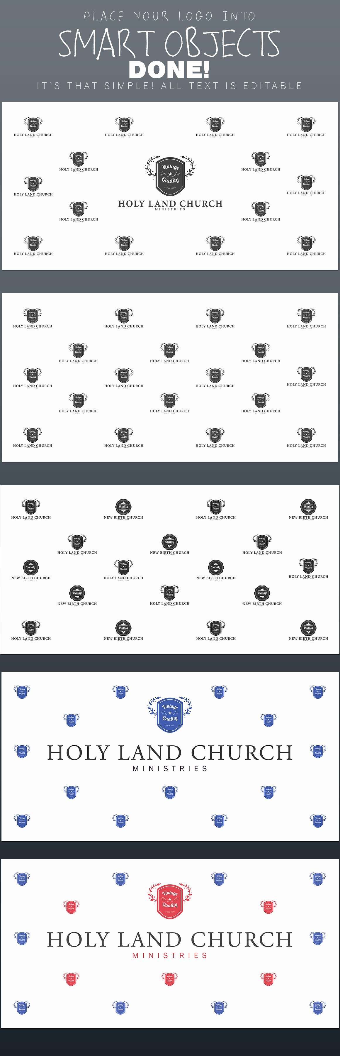 step and repeat backdrop template