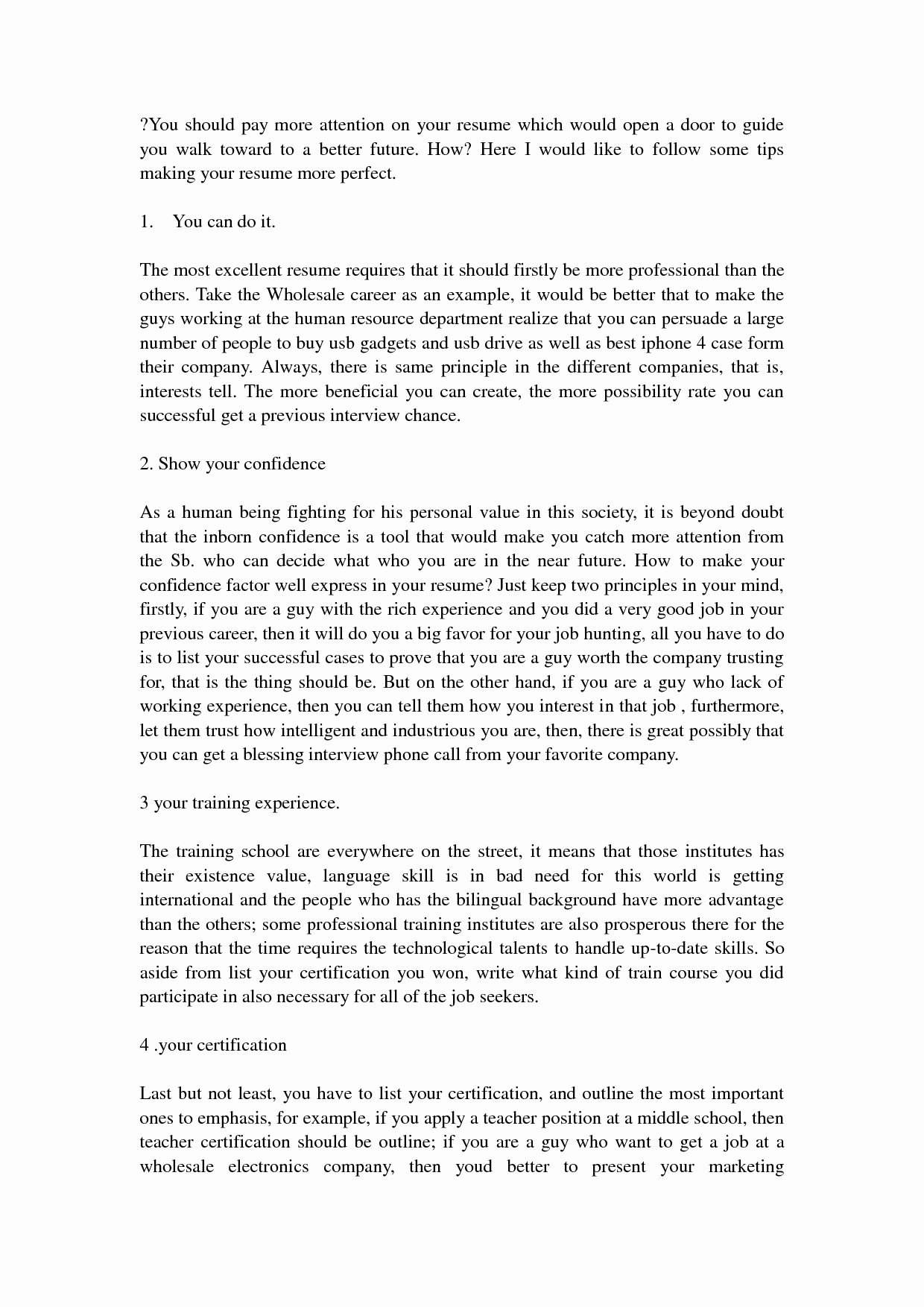 Step by Step How to Write A Resume Bongdaao