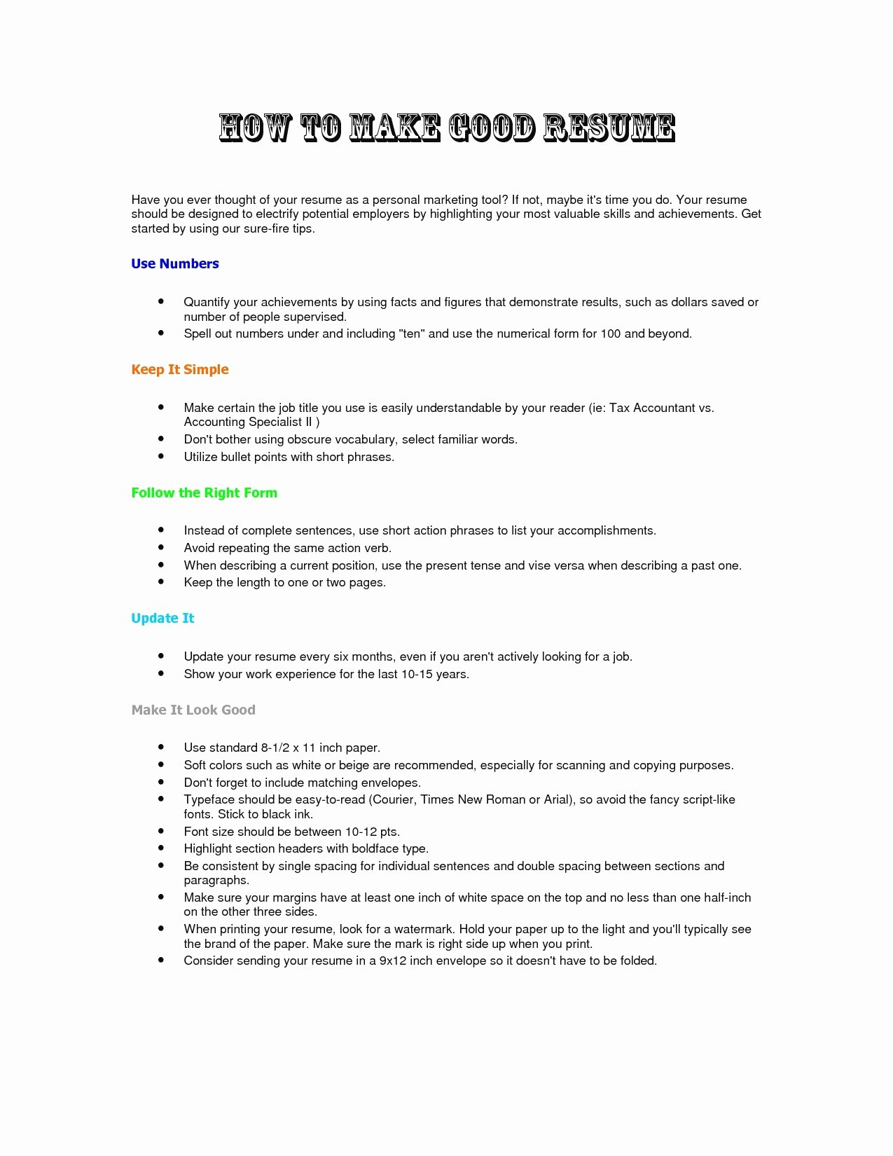 Step by Step Resumes How to Make A Resume Step by Step