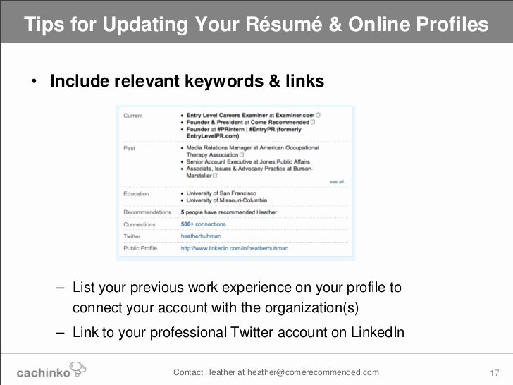 Still Job Searching Tips for Updating Your Line Resume