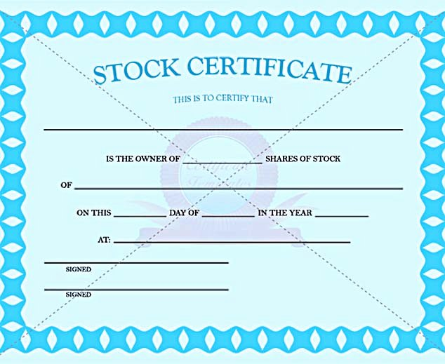 Stock Certificate Template Free In Word and Pdf