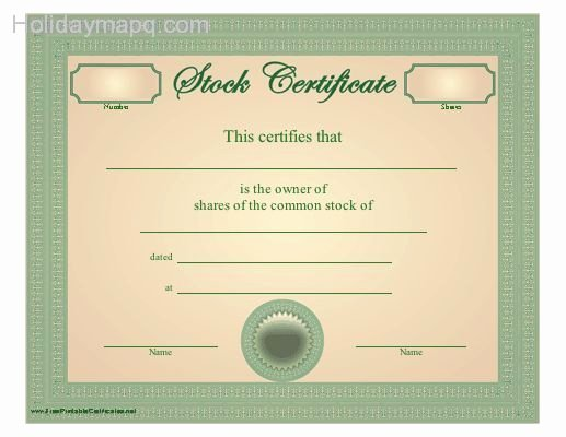 Stock Certificate Template Holidaymapq