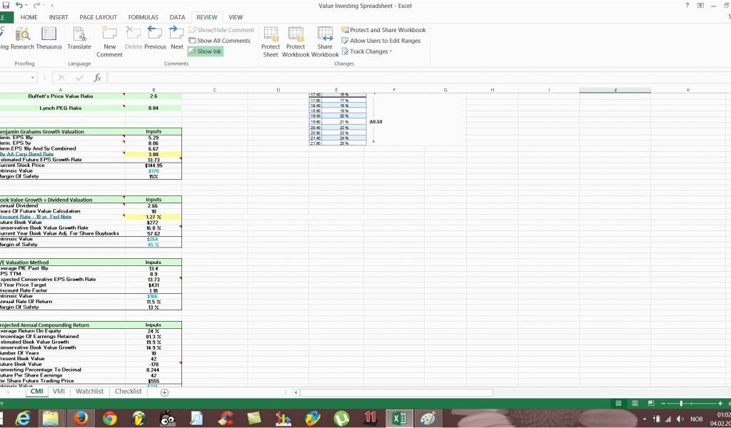 Stock Fundamental Analysis Excel Template – thedl