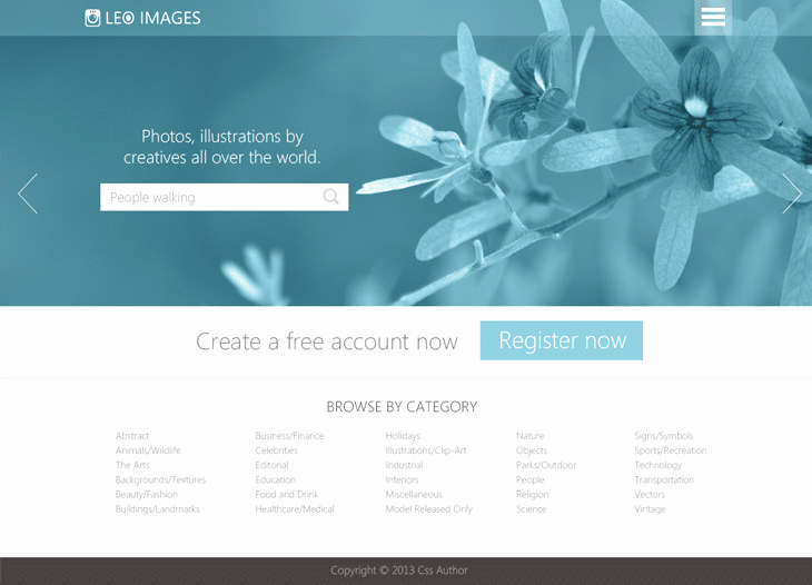 Stock S Website Template Psd for Free Download