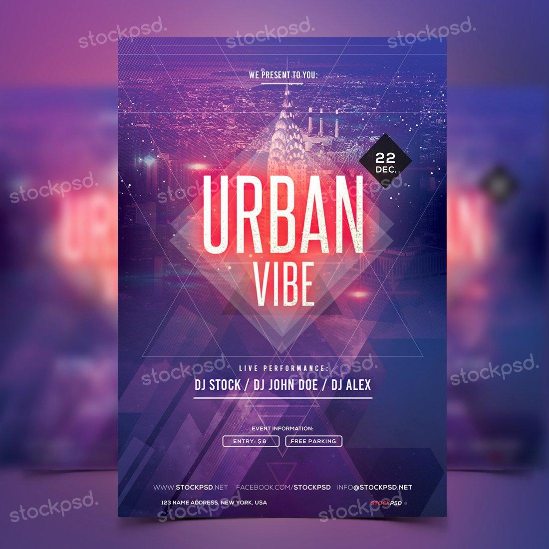 urban vibe free psd party flyer