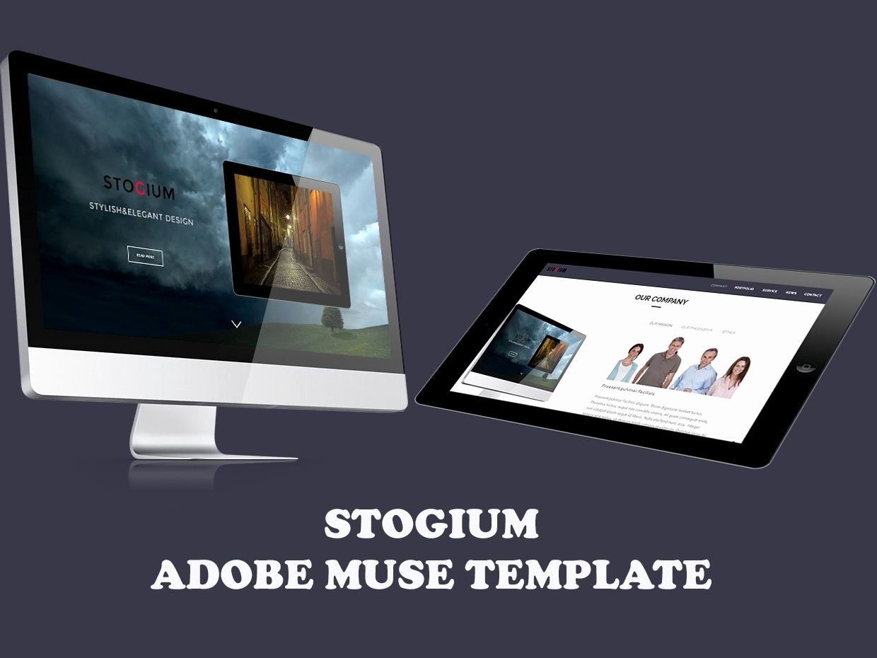 Stogium Adobe Muse Template