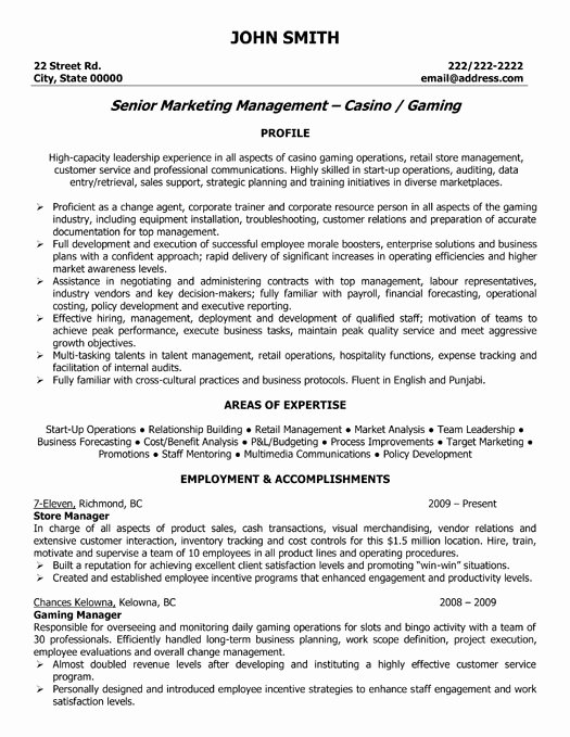 Store Manager Resume Sample & Template