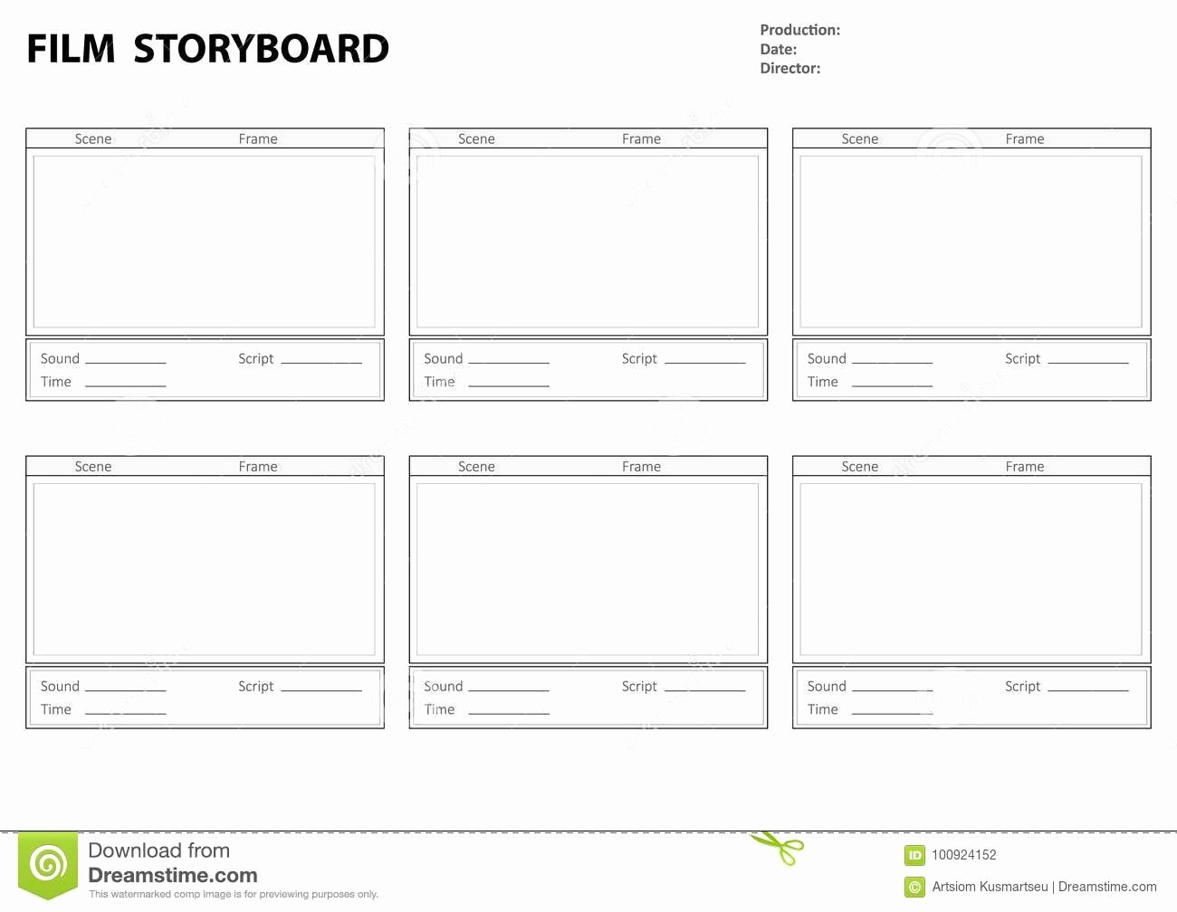 Storyboard Template for Story Stock Vector