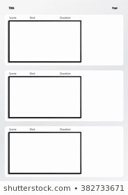 Storyboard Template Stock S & Vectors