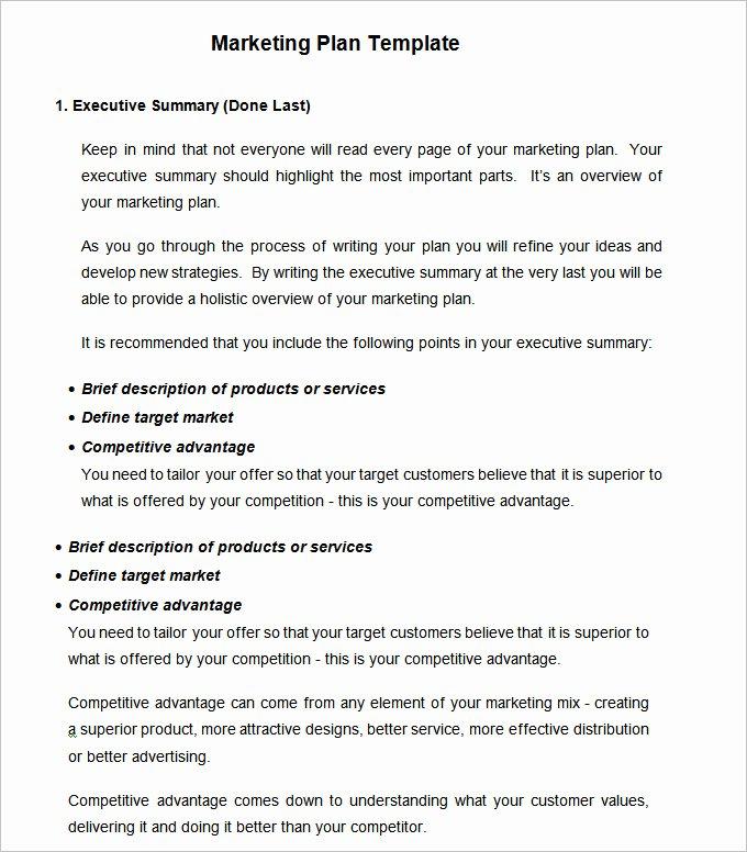 Strategic Marketing Plan Template 10 Free Word Pdf