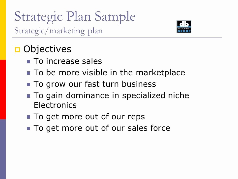 Strategic Plan Sample Strategic Marketing Plan August Ppt