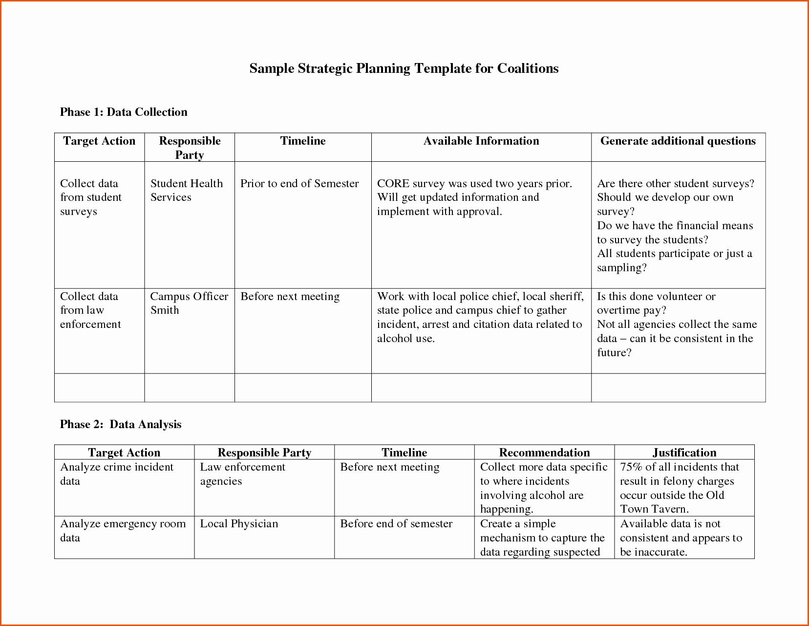 Strategic Plan Template Word Bamboodownunder