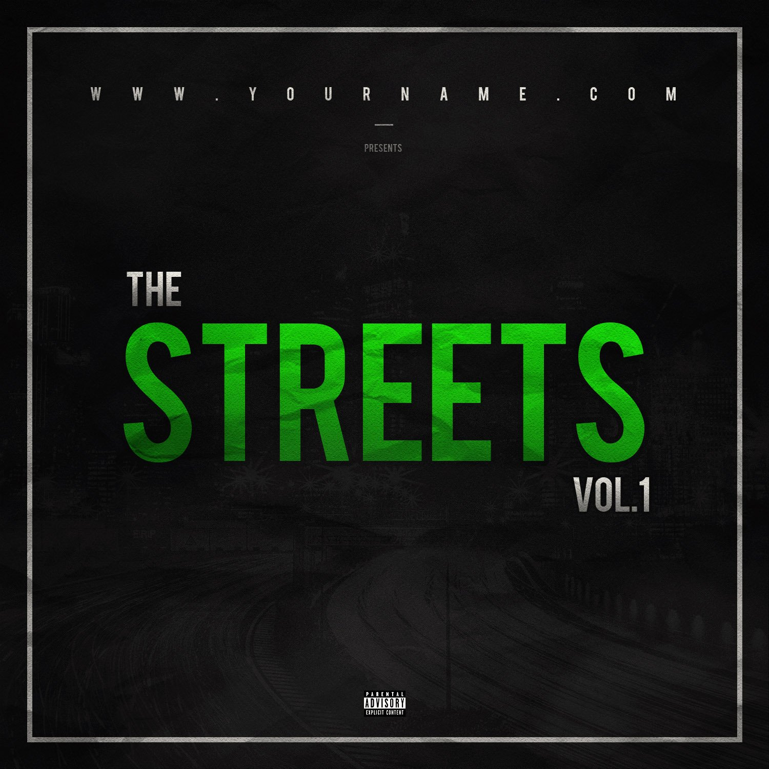 Street Mixtape Cover Template Vms