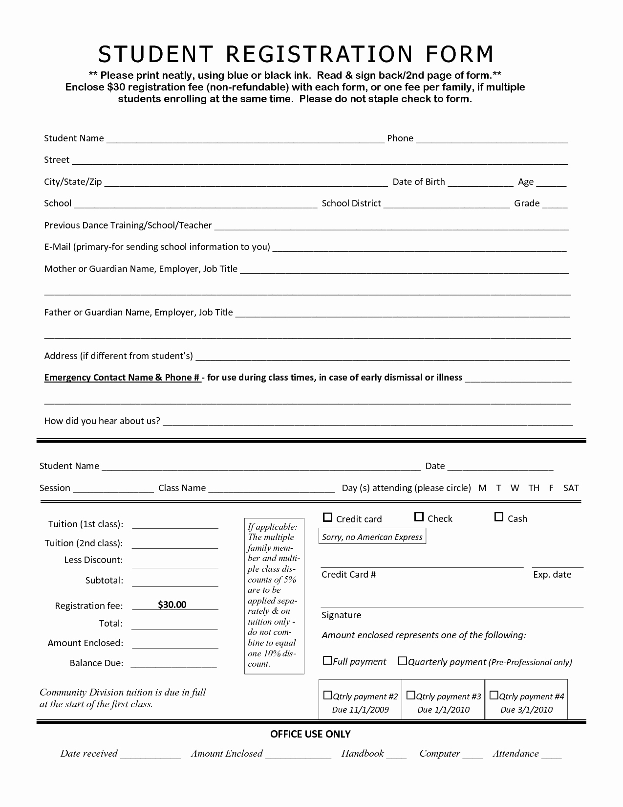 Student Application form Template Portablegasgrillweber