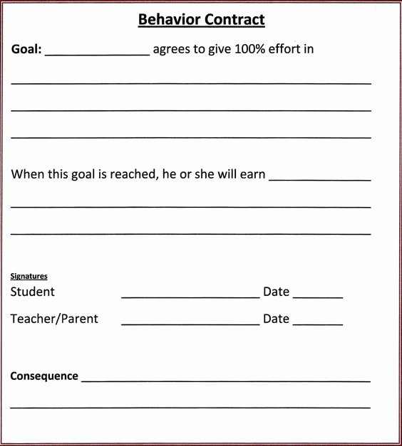 Student Behavior Contract and Ps On Pinterest