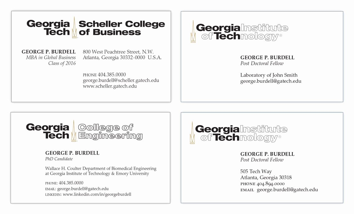 Student Business Cards Licensing & Trademarks