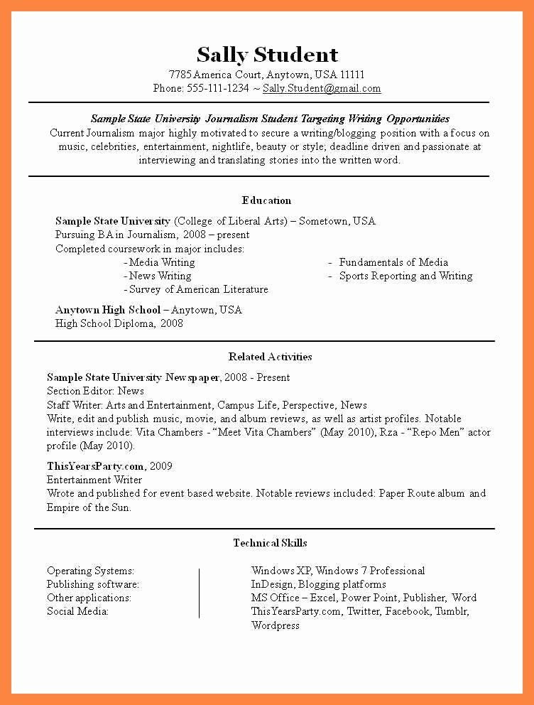 Student Cv Template Part Time Jobrt Time Job Resume