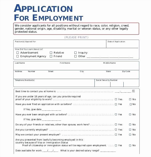 student employment application form template free printable work applications for resume google docs