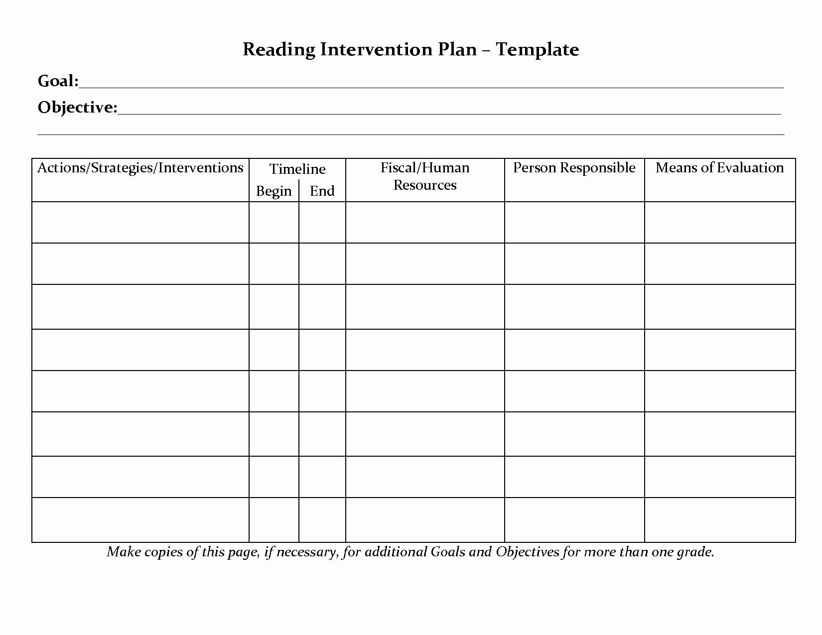 Student Intervention Plan to Pin On Pinterest