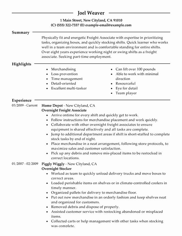 Student Part Time Job Resume Best Resume Collection