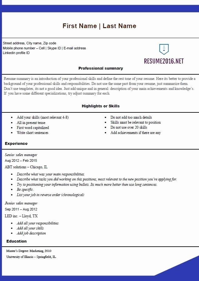 Student Resume Builder 2017