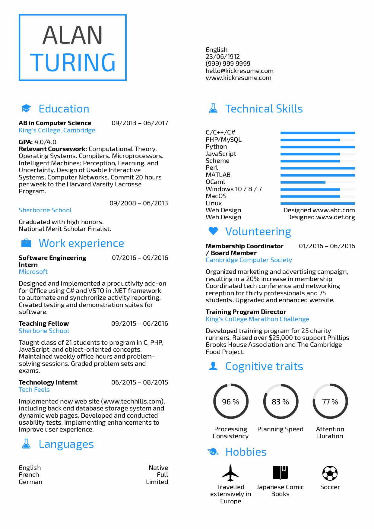 Student Resume Puter Science Resume Samples