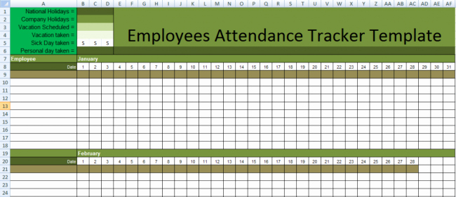 Stunning Employee attendance Tracker Sheet Example with