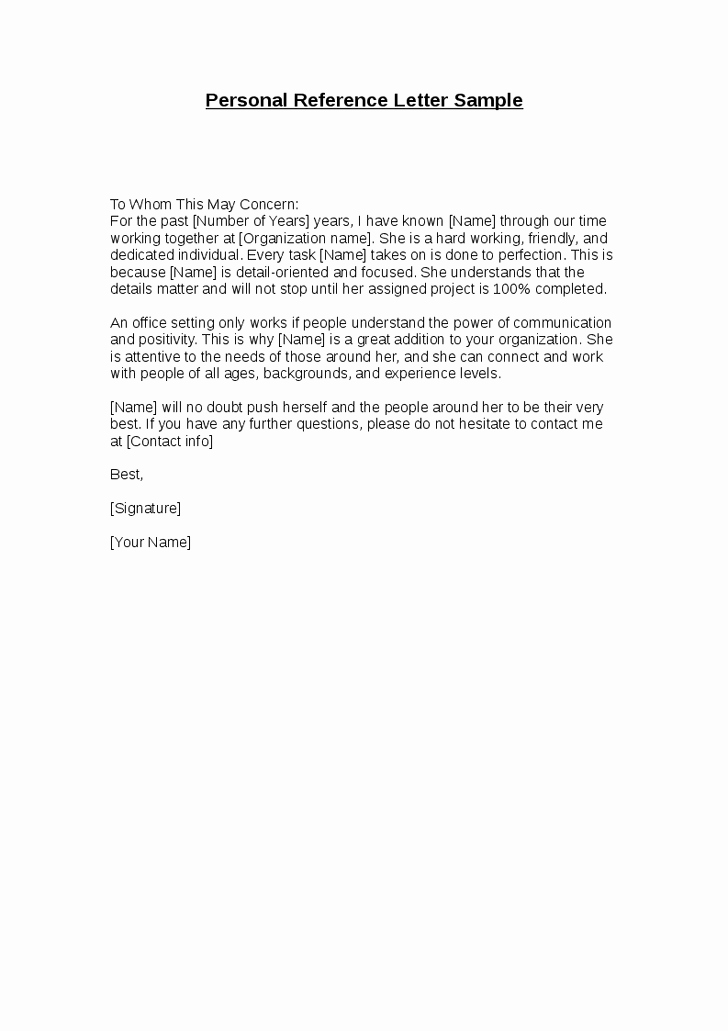 stunning personal re mendation or character reference letter sample for employment
