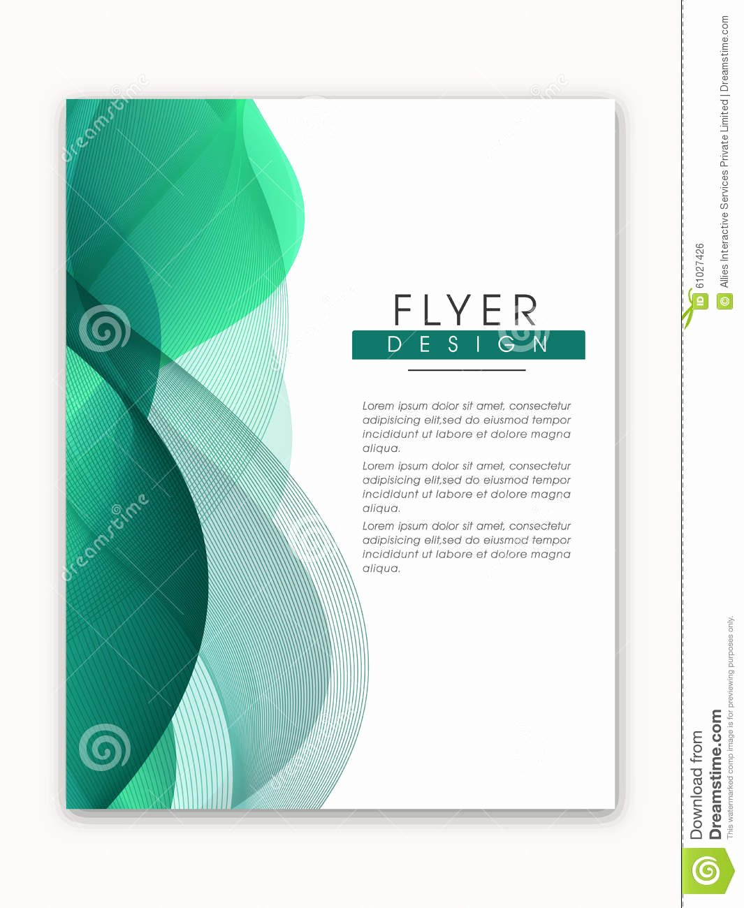 Stylish Business Flyer Template Stock Image