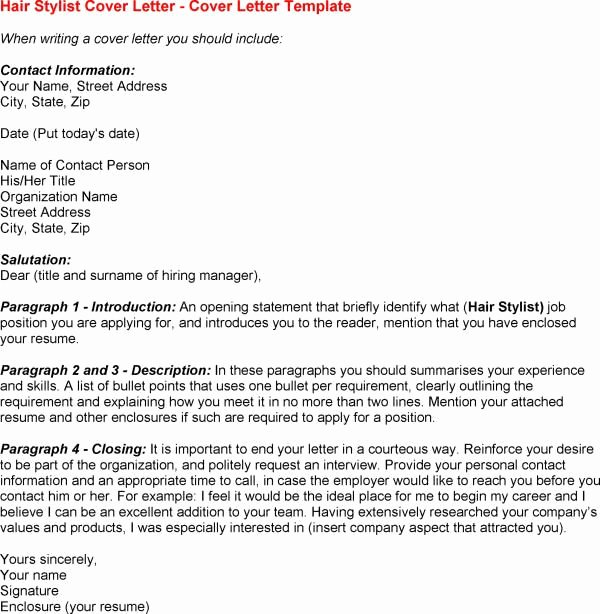 Stylist assistant Cover Letter