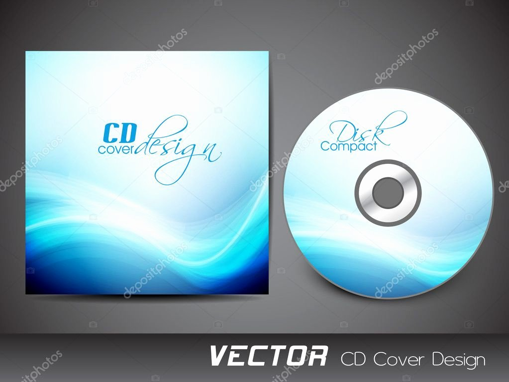 Stylized Cd Cover Design Template Eps 10 — Stock Vector